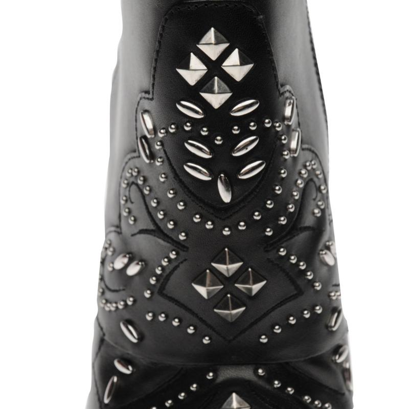 Bronx Stud Boots Black