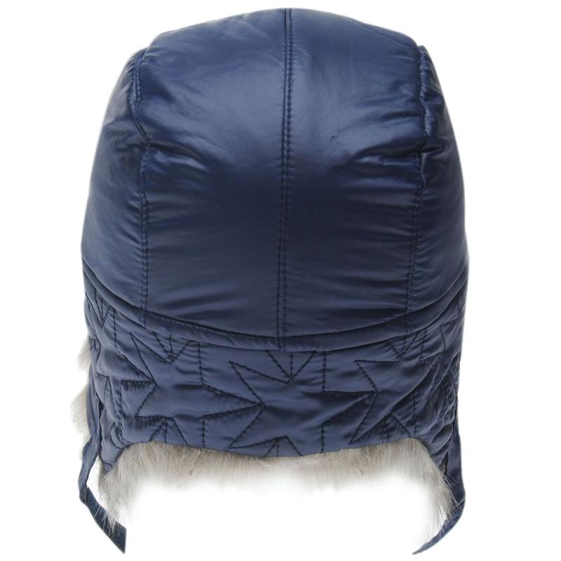 Crafted Essentials Quilted Trapper Hat Child Boys Navy