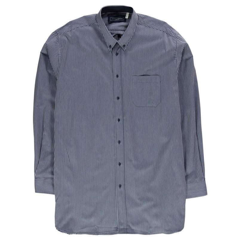Jonathon Charles Charles 195 Long Sleeve Shirt Mens Blue/White