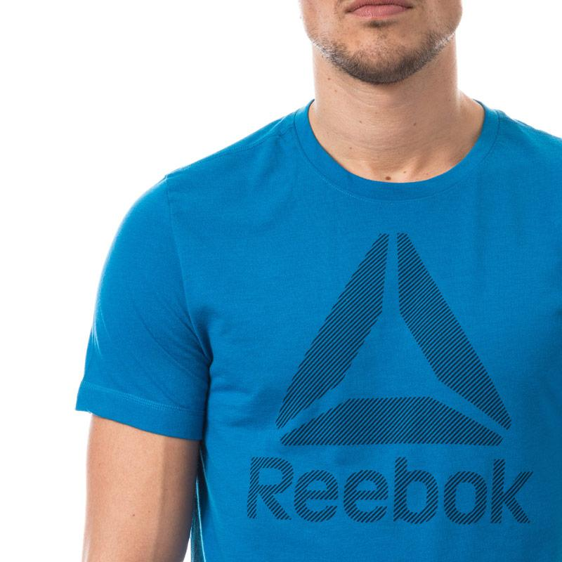Reebok Mens Workout Ready Supremium T-Shirt Blue