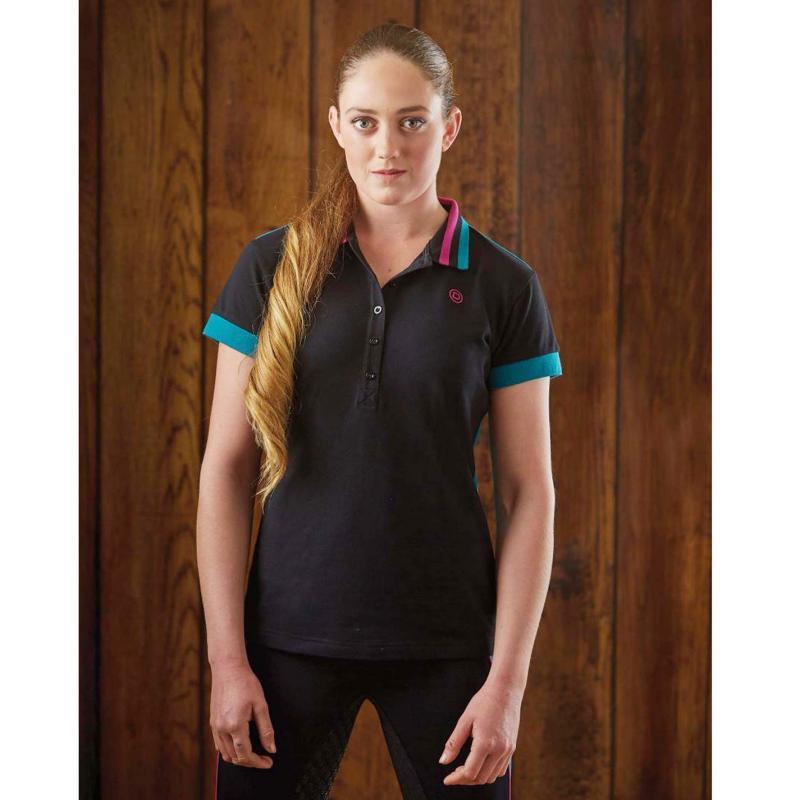 Polokošile Dublin Alto Short Sleeve Polo Ladies Black Velikost - 14 (L)
