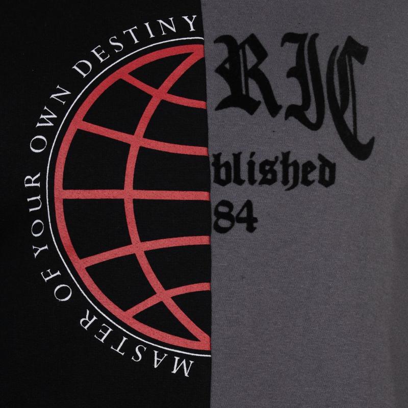 Mikina Fabric Spliced Crew Sweatshirt Mens Black/Char