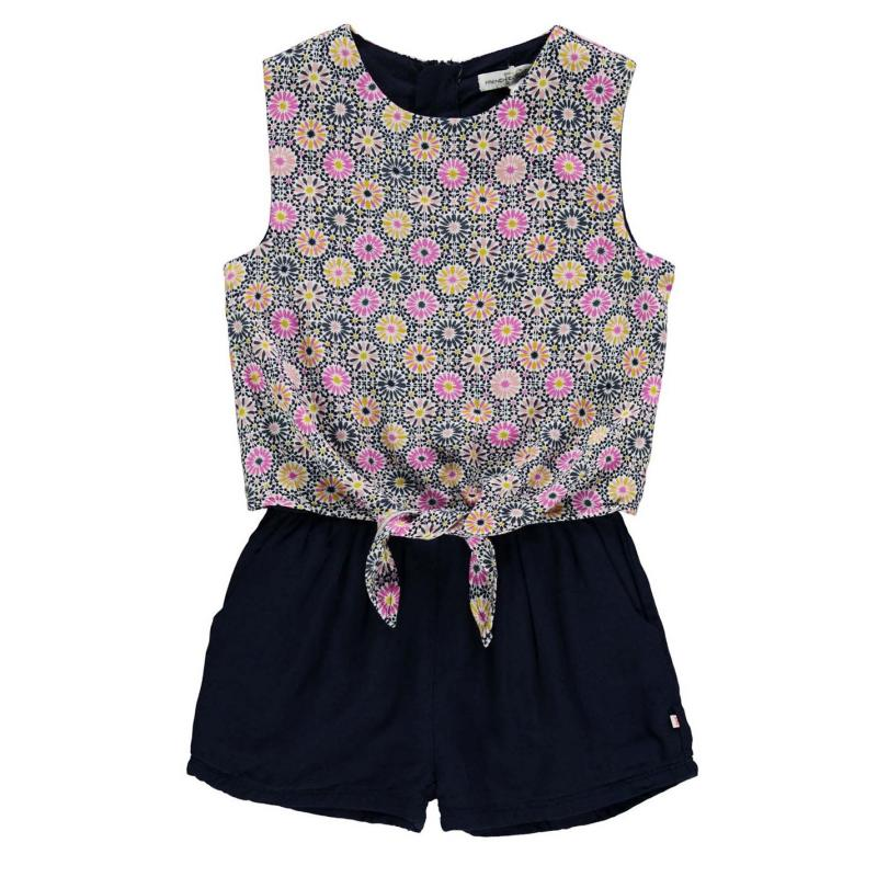 French Connection Tie Playsuit Nocturnal
