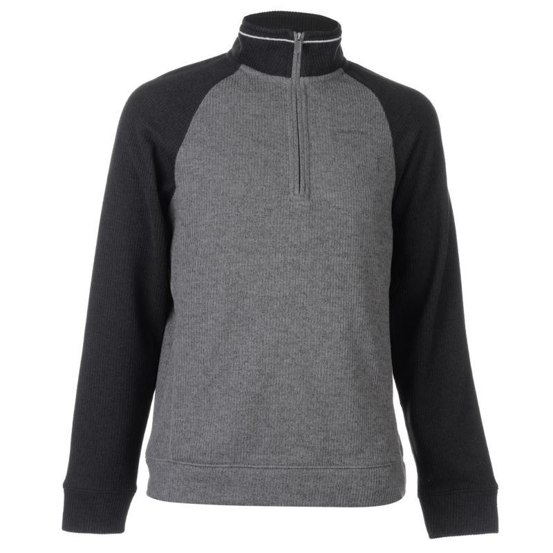 Mikina Craghoppers Norton Half Zip Fleece Mens Blk Pepper/Grey
