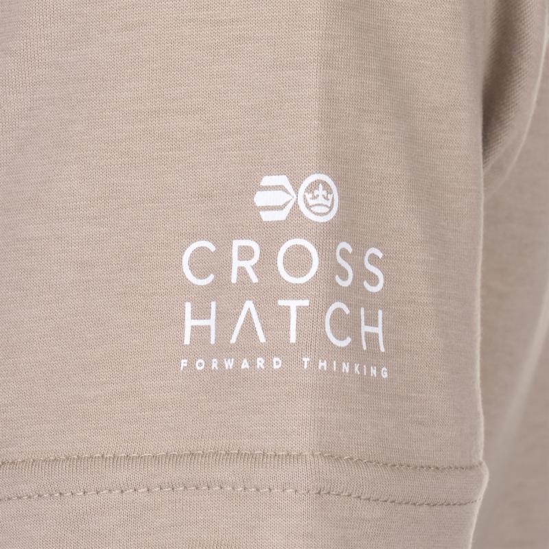 Tričko Crosshatch Camocru T Shirt Mens Timber Wolf