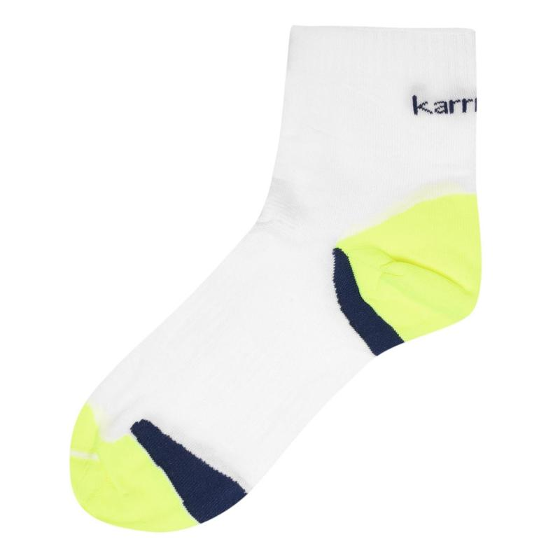 Karrimor Anti Blister Running Socks Mens White/Fluo