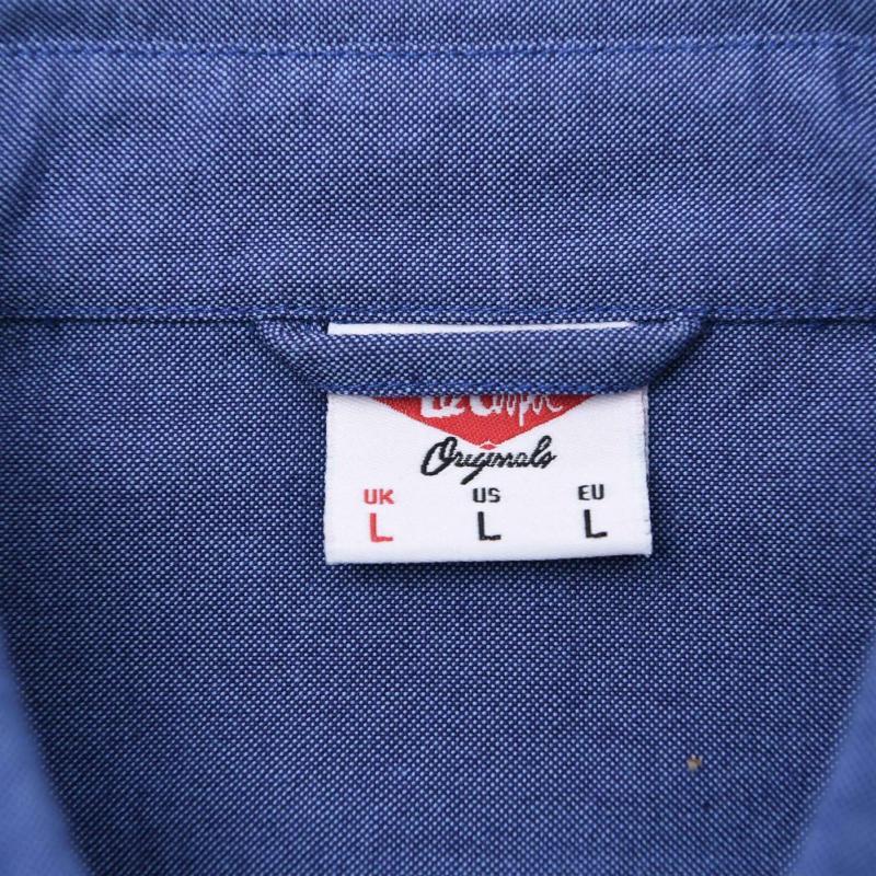 Lee Cooper Chambray Shirt Mens Navy