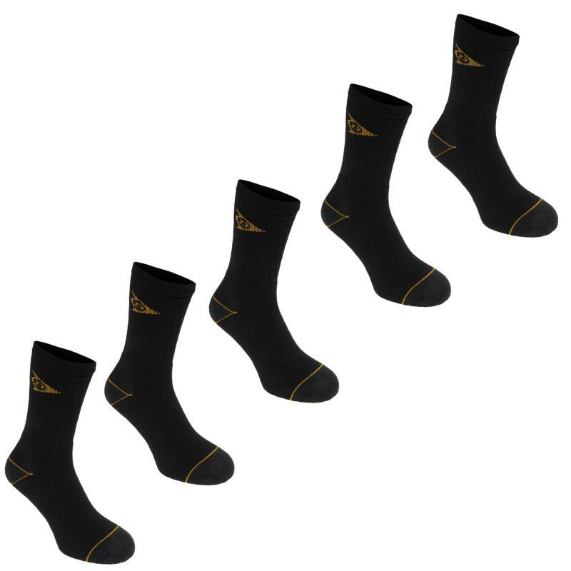 Ponožky Dunlop Workwear Socks 5 Pack Mens Black