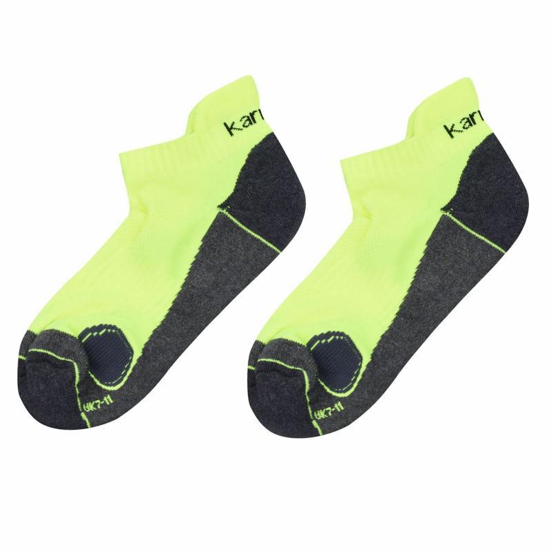 Karrimor 2 Pack Running Socks Mens Fluo Yellow