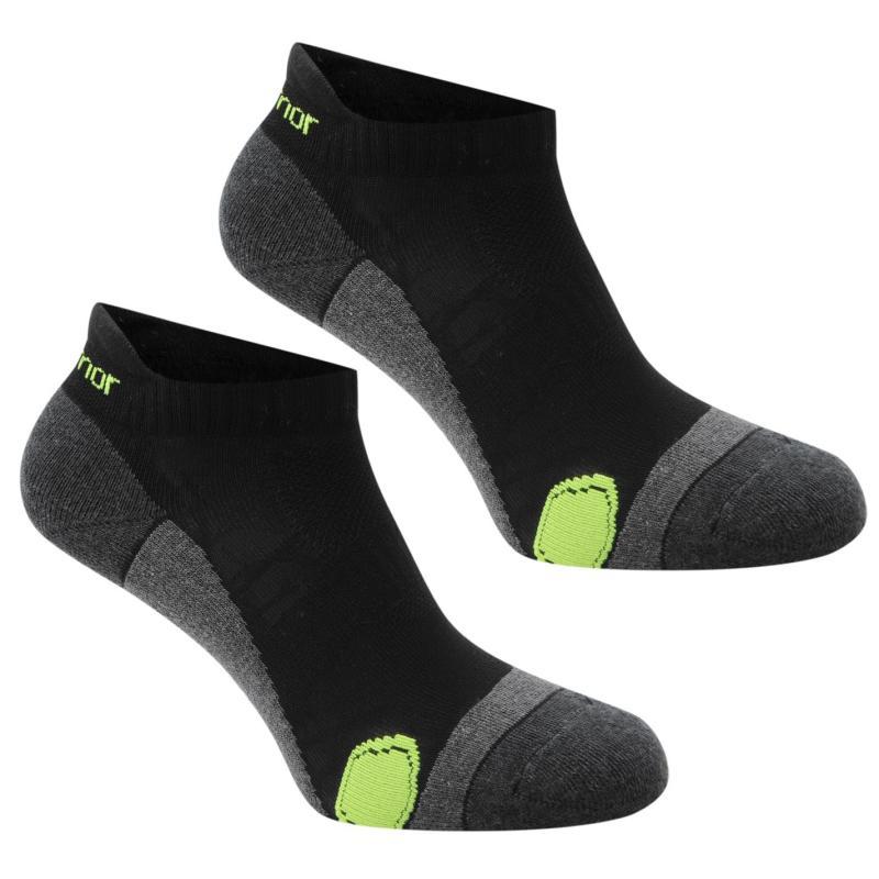 Karrimor 2 Pack Running Socks Mens Black/Fluo