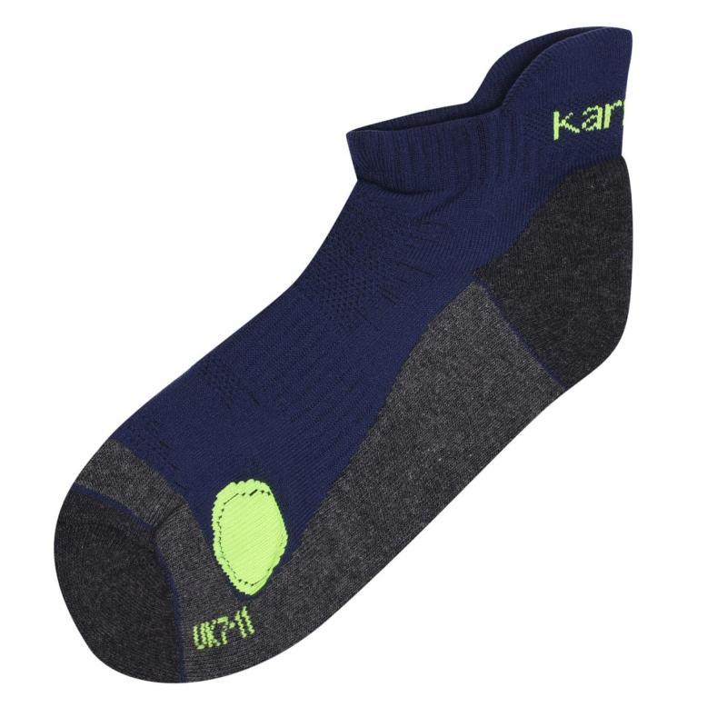 Karrimor 2 Pack Running Socks Mens Navy/FluoYellow