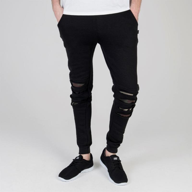 Tepláky Fabric Split Knee Joggers Mens Black