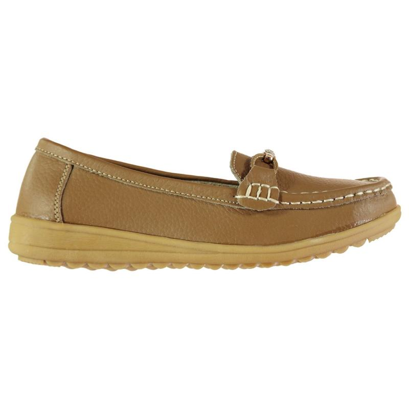 Heatons Leather Ladies Loafers Black
