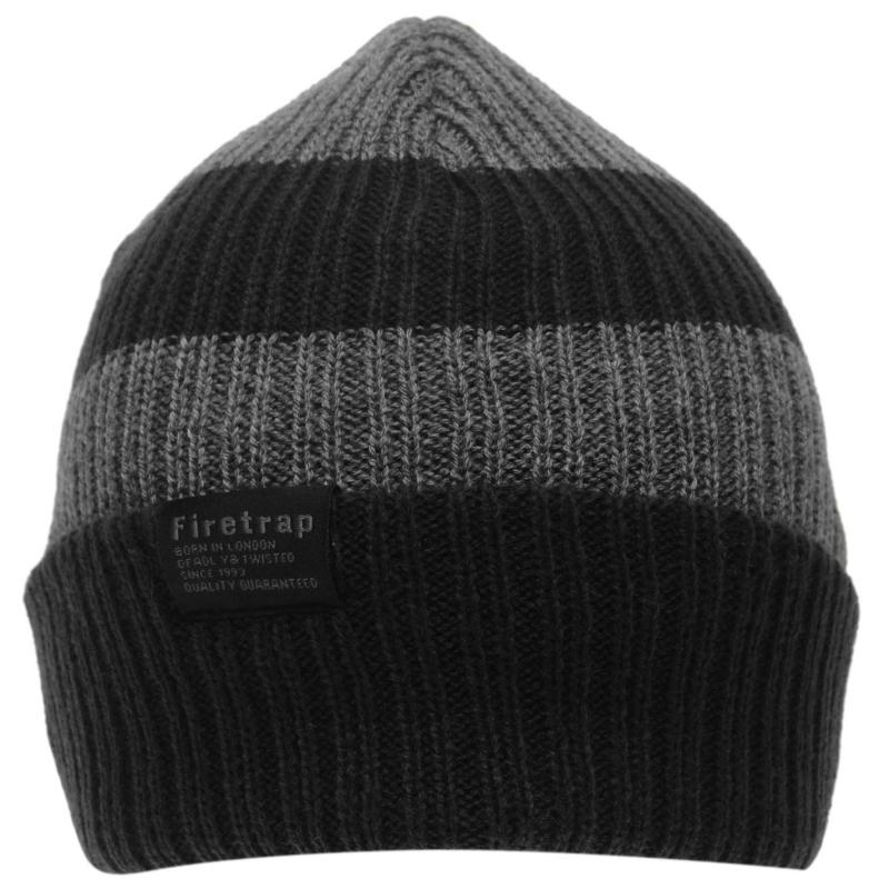 Firetrap Chunky Hat Junior Charcoal/Black