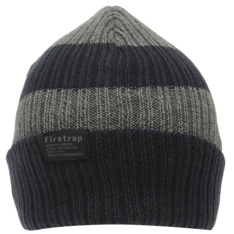 Firetrap Chunky Hat Junior Charcoal/Black