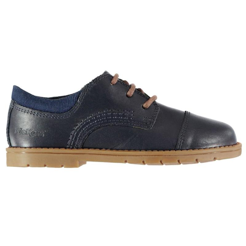 Kickers Orin Infants Derby Shoes Blue