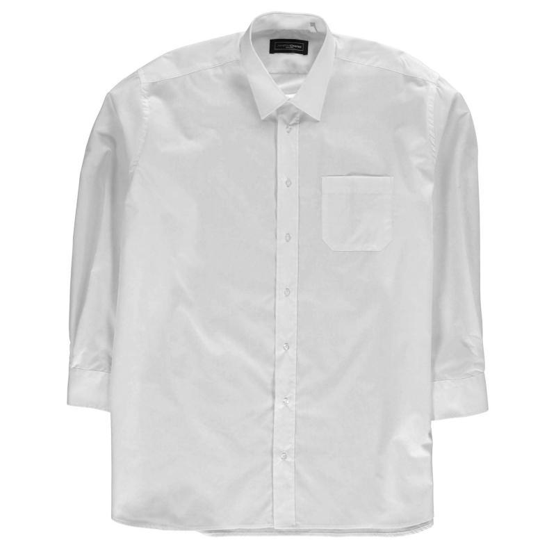 Jonathon Charles Charles 7017 Long Sleeve Shirt Mens White