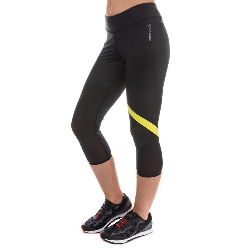 Sportovní kalhoty Reebok Womens Cardio Capri Pants Black