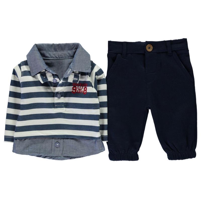 Tepláky Crafted Mini 2 Piece Jogger Set Baby Boy Navy Stripe
