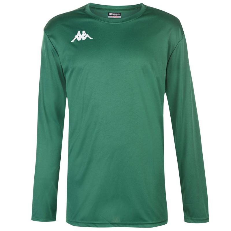 Tričko Kappa Torino Long Sleeve T Shirt Mens Green/White