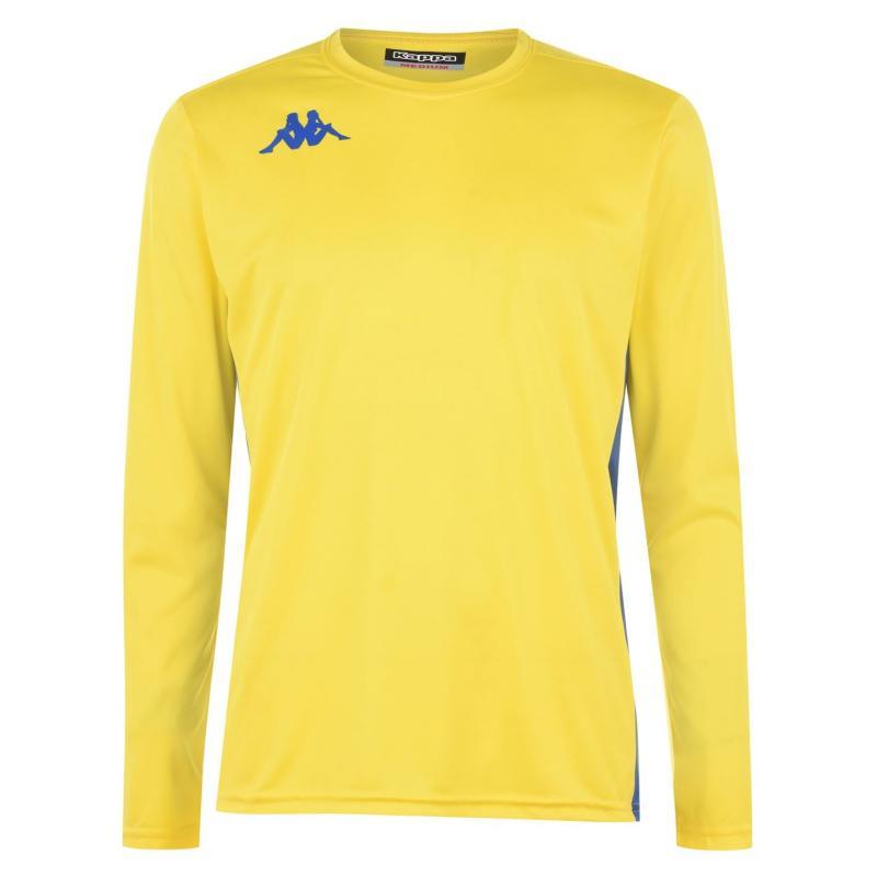 Tričko Kappa Long Sleeve T Shirt Mens Yellow/Royal