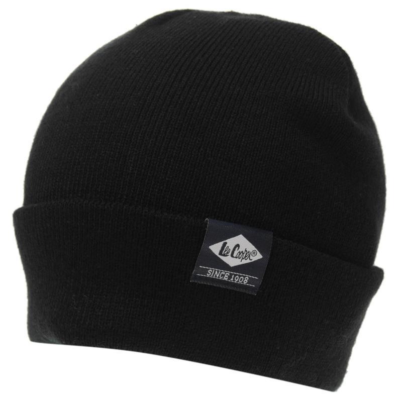 Lee Cooper Knitted Hat Mens Black