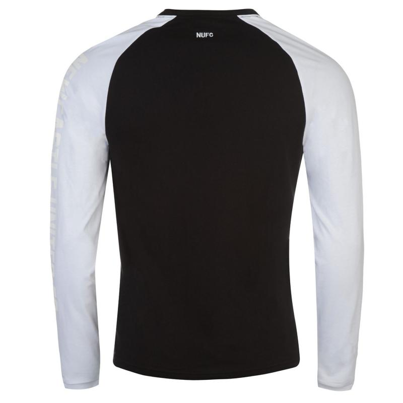 Tričko NUFC NUFC Long Sleeve T Shirt Mens Black