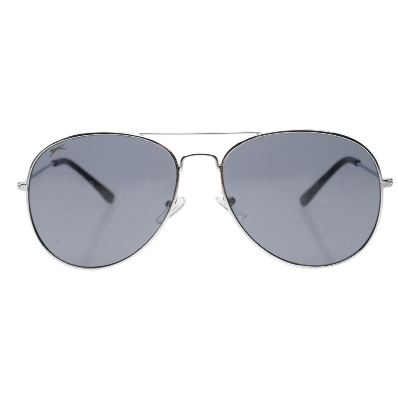 Slazenger Aviator Sunglasses Mens Black/Silver