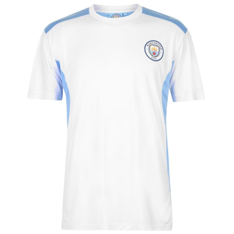 Source Lab Manchester City Poly T Shirt Sky