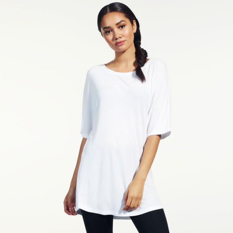 Tričko SportFX Ribbed T Shirt Ladies White