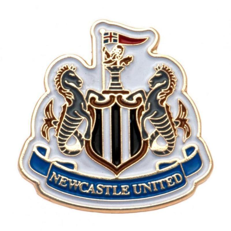 Team Club Shield Pin Badge Newcastle
