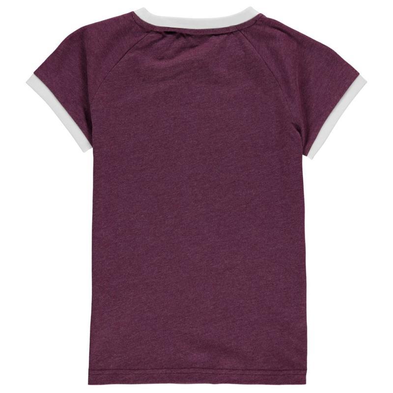 Team Graphic T Shirt Junior Girls Purple Marl