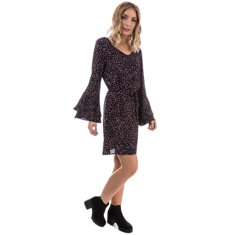 Šaty Only Womens Anika Flounce Sleeve Dress Black