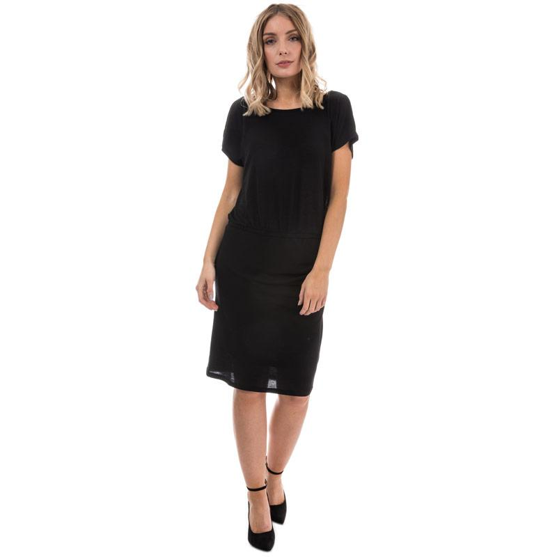Šaty Only Womens Lilo Lace Detail Jersey Dress Black