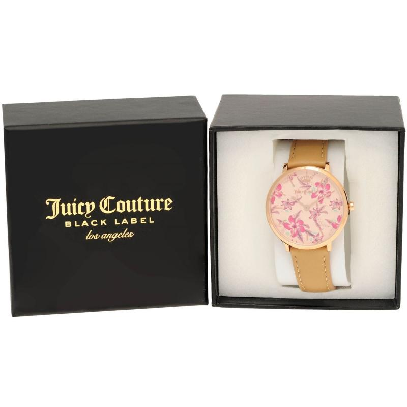 Juicy Couture LA Ultra Slim Watch Tan/Pink
