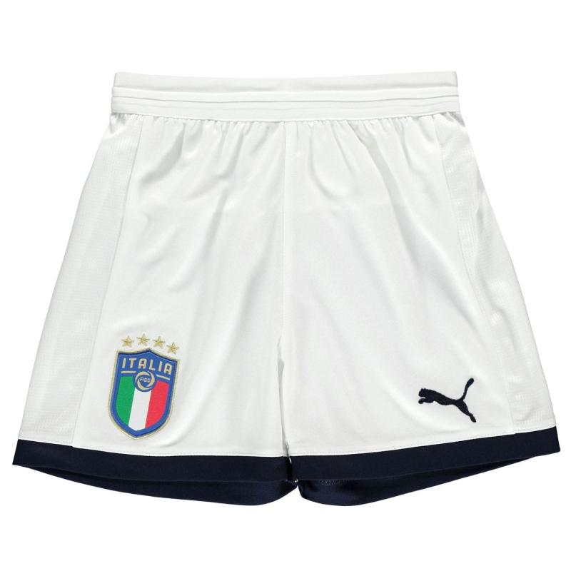 Puma Italy Home Shorts 2017 2018 Junior White