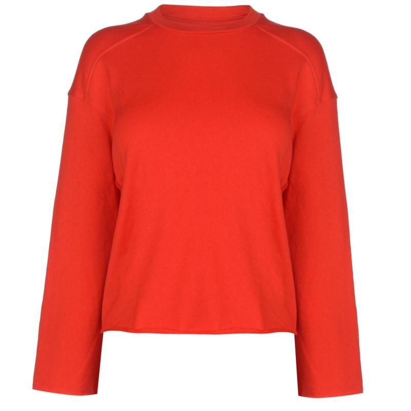 Mikina JDY Abigail Raw Sweater High Risk Red