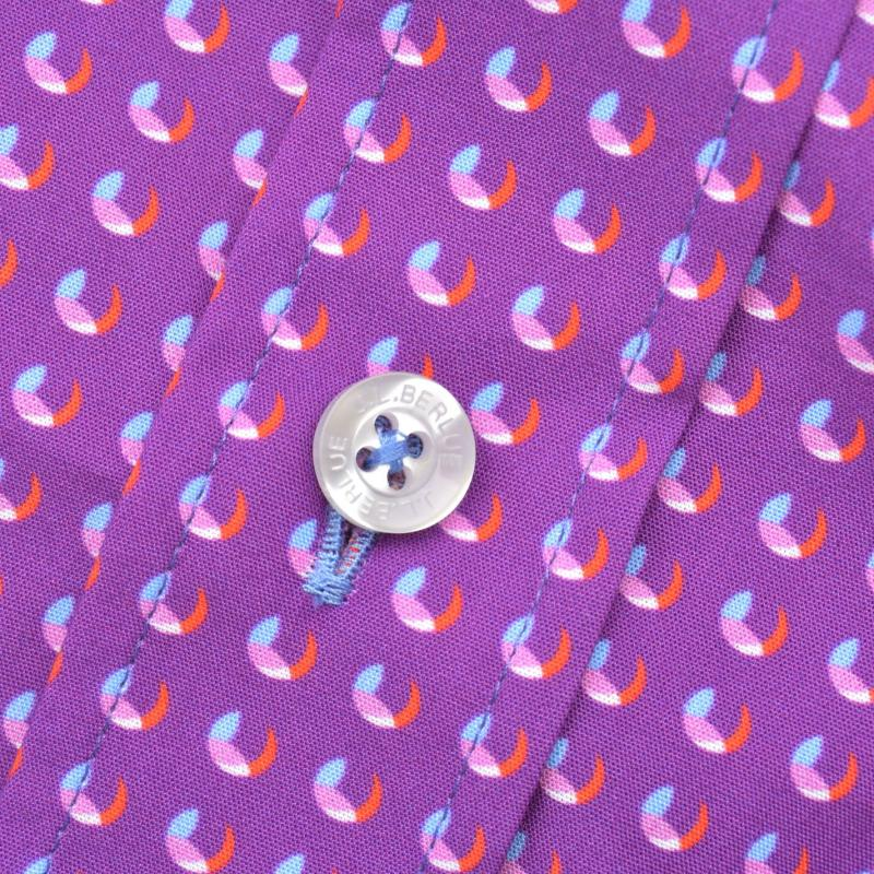 Jiggler Lord Berlue Abstract Circle Print Shirt Purple