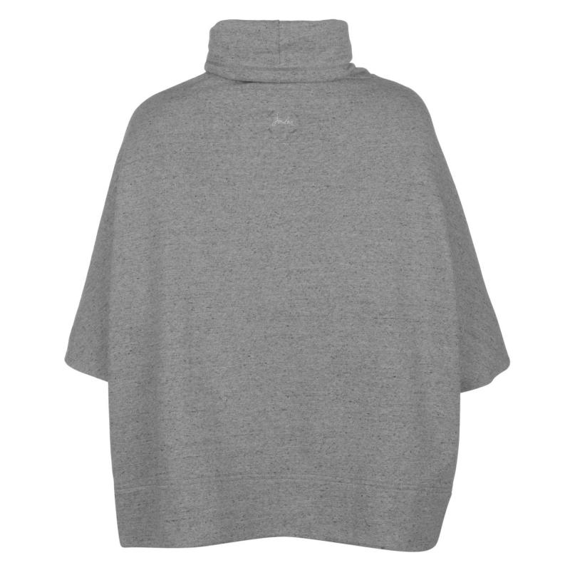 Joules Sweater Poncho Ladies Grey Marl