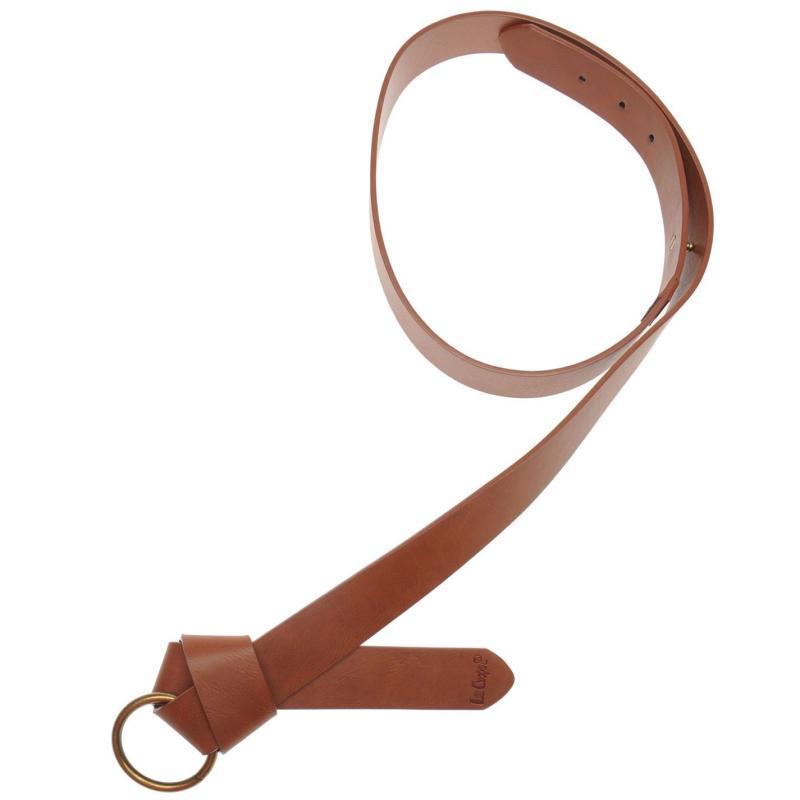 Lee Cooper Knot Belt Ladies Brown