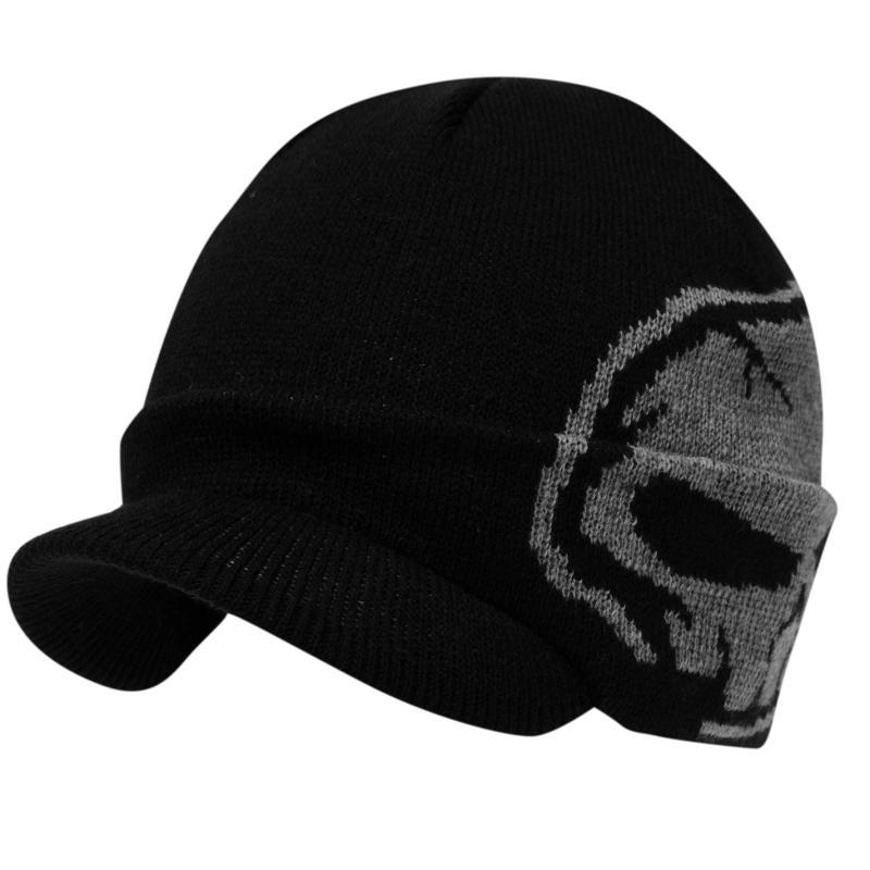 No Fear Tower Peak Hat Junior Black/Grey