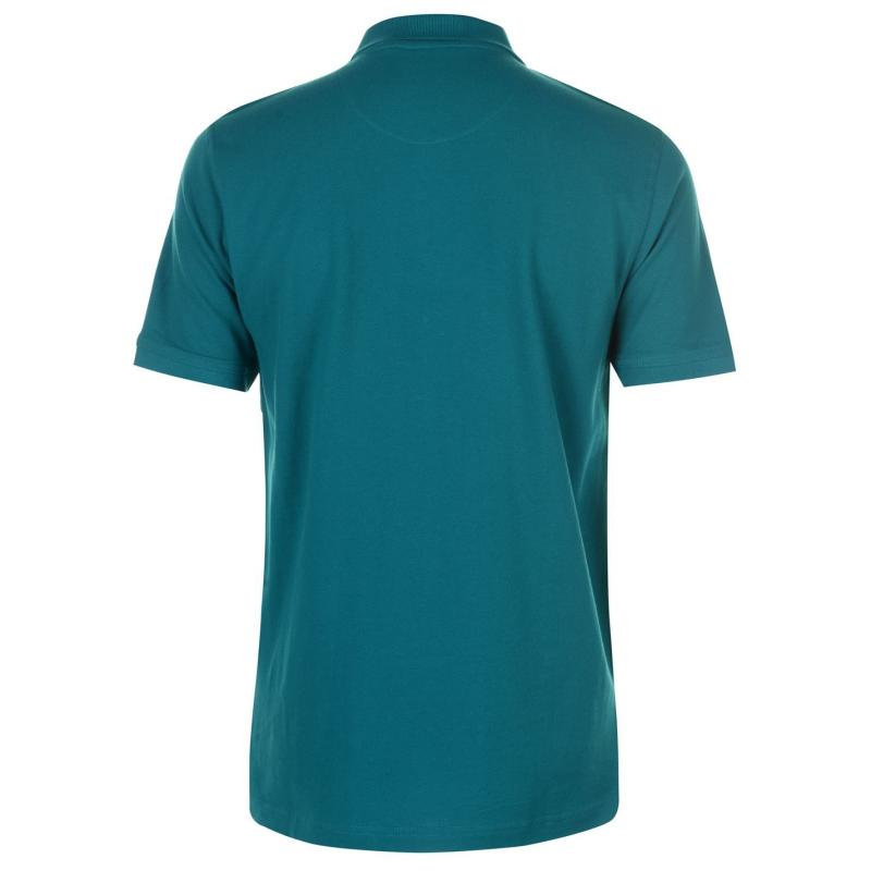 Pierre Cardin Plain Polo Shirt Mens Teal