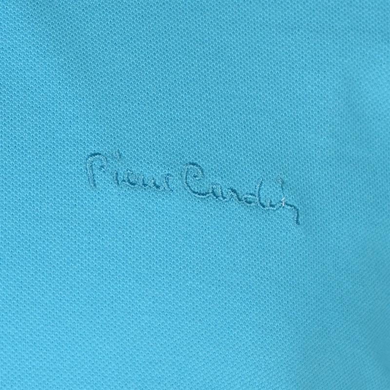 Pierre Cardin Plain Polo Shirt Mens Aqua