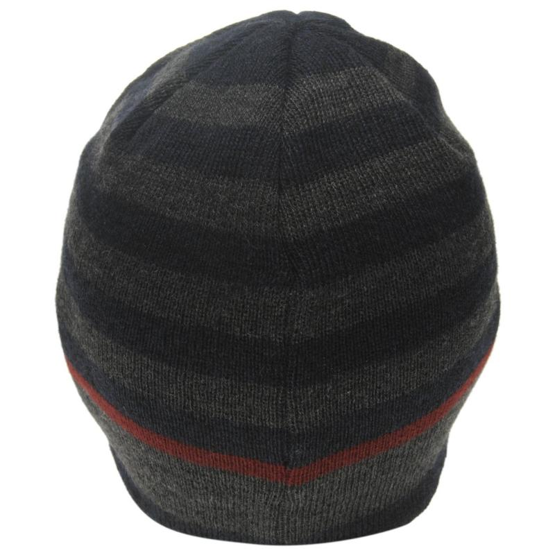 Firetrap Pull On Hat Mens Grey/Red