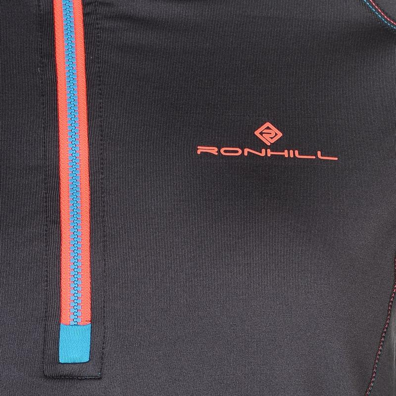 Ron Hill Stride Half Zip Running Jacket Ladies Charcoal/Blue