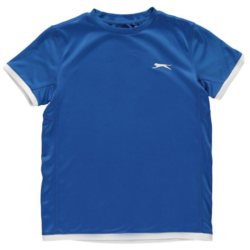 Slazenger Court T Shirt Junior Boys Royal