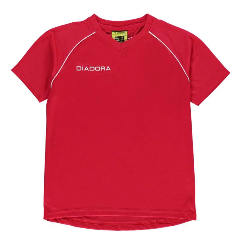 Tričko Diadora Madrid T Shirt Junior Boys Green/White