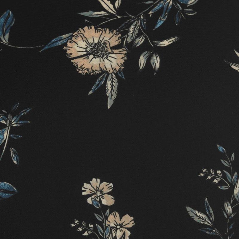 Košile Only Mesa Lux Three Quarter Sleeve Top Black Floral