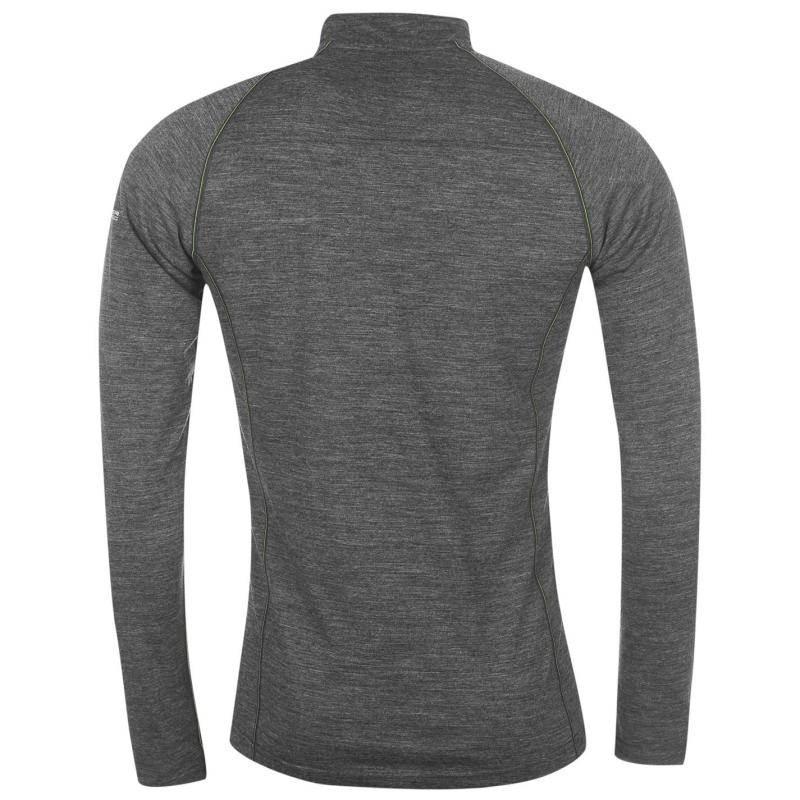 Tričko Ron Hill Infinity Long Sleeve Running T Shirt Mens Grey/Yellow
