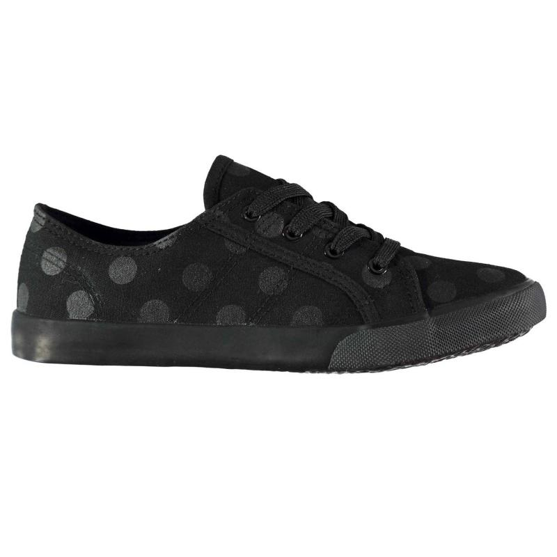 Crafted BTS Canvas Trainers Girls Black